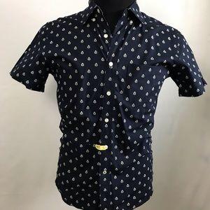 💝 American Eagle men button up shirt blue XS